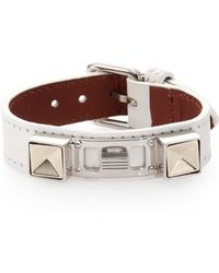 Proenza Schouler Ps11 Small Leather Bracelet white - Lyst