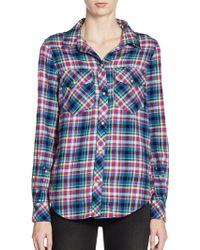 Textile Elizabeth and James Max Cotton Plaid Shirt - Lyst