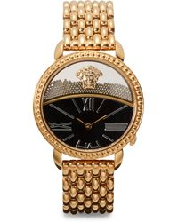 Versace Rose Goldfinished Link Bracelet Watch - Lyst