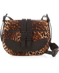 Rachel Zoe Kye Medium Combo Messenger Bag Leopard - Lyst