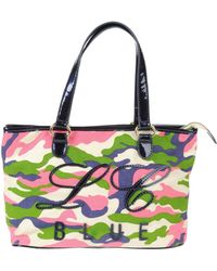 Blue Les Copains Medium Fabric Bag - Lyst