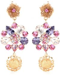 Dolce & Gabbana Crystalembellished Clipon Earrings - Lyst