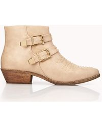 Forever 21 Total Stud Buckled Booties - Lyst