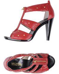 MICHAEL Michael Kors High Heeled Sandals - Lyst