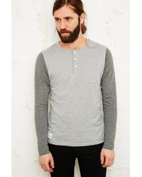 Native Youth - Contrast Sleeve Baseball Jumper in Grey - Lyst