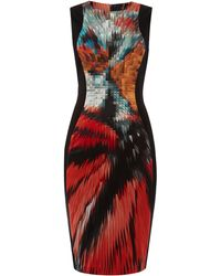 Pied A Terre Printed Ponte Panelled Dress - Lyst