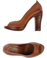 Rocco P Courts With Open Toe - Lyst