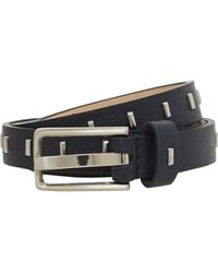 Stephen Collins - Navy Square Buckle Belt - Lyst