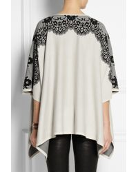 Alice By Temperley - Wisp Lace-intarsia Cotton Poncho - Lyst
