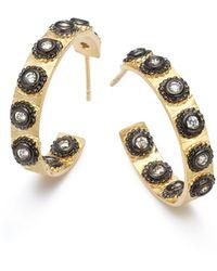 Belargo - Polka Dot Hoop Earrings - Lyst