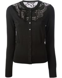 Dolce & Gabbana Lace Panel Cardigan - Lyst