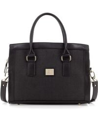 Gianfranco Ferré - Large Wovencenter Satchel Bag Black - Lyst