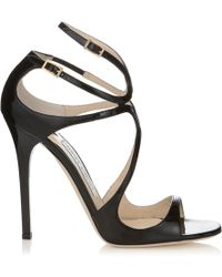 Jimmy Choo | Fiscal Strappy Woven Leather Sandal | Lyst