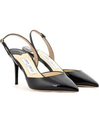 Jimmy Choo Tilly Patent-Leather Sling-Back Pumps - Lyst