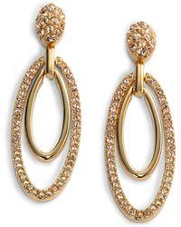 Judith Leiber - Ellipse Crystal Drop Earrings - Lyst