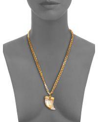 Kara Ross - Horn Pendant Necklace - Lyst