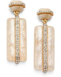 Kara Ross - Marbleized Drop Earrings - Lyst