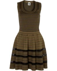M Missoni Rib And Sheer Sleeveless Dress - Lyst