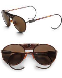 Proenza Schouler Round Metal Acetate Sunglasses brown - Lyst