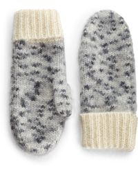 Rag & Bone Jayda Alpaca Wool Mohair Silkblend Mittens - Lyst