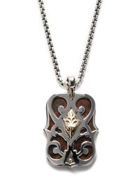 Stephen Webster - Sterling Silver Double-Dogtag Shield Necklace - Lyst