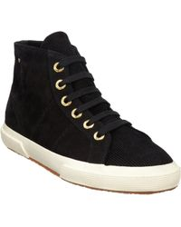 The Row - Suede Corduroy High-Top Sneaker - Lyst