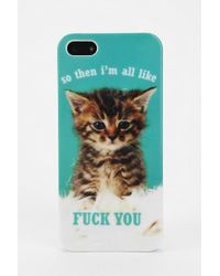 Urban Outfitters - Uo Kitten Iphone 55s Case - Lyst