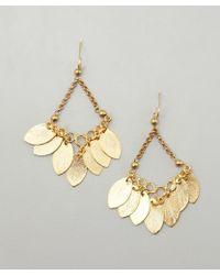 Wendy Mink - Gold Leaf Cluster Chandelier Earrings - Lyst