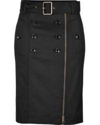 Burberry Brit Stretch Cotton Pencil Skirt - Lyst