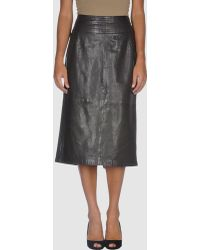 Claudia Sträter Leather Skirt - Lyst