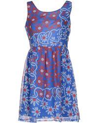 Cutie Blue Short Dress - Lyst