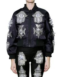 Ktz Bomber Jacket with Jewel Patch - Lyst