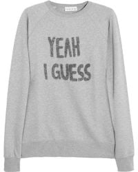 Lulu & Co - Yeah I Guess Appliquéd Cottonjersey Sweatshirt - Lyst