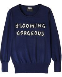 Markus Lupfer Blooming Gorgeous Sequin Jumper - Lyst