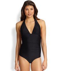 Shoshanna One-Piece Ruched Swimsuit - Lyst
