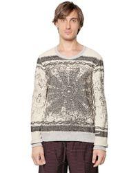 Andrea Pompilio | Inside Out Cotton Fleece Sweatshirt | Lyst