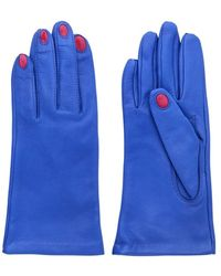 Aristide - Red Nails Nappa Leather Gloves - Lyst