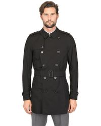 Burberry Mid Length Cotton Gabardine Trench Coat - Lyst