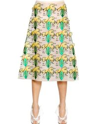 Christopher Kane  Flower Patch Organza Skirt - Lyst