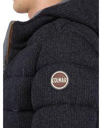 Colmar - Wool Tweed Hooded Down Jacket - Lyst