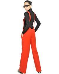 Courreges - Wool Crepe Jumpsuit - Lyst