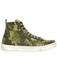 Dami Crocodile Leather High Top Sneakers - Lyst