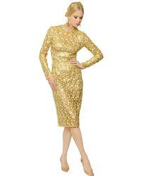 Dolce & Gabbana Macramé Lace Dress - Lyst