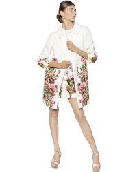 Dolce & Gabbana Cotton Silk Oleandro Brocade Coat - Lyst