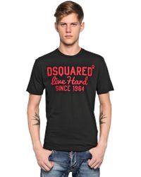 DSquared² Cracked Print Cotton Jersey T-shirt - Lyst