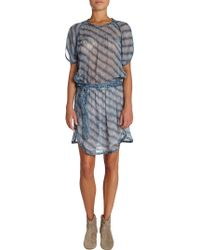 Etoile Isabel Marant Zaggy Stripey Chiffon Dress - Lyst