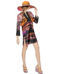 Etro Printed Silk Twill Dress - Lyst