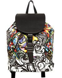 Just Cavalli - Miami Graffiti Techno Canvas Backpack - Lyst