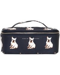 Marc By Marc Jacobs - Large Printed Canvas Travel Makeup Bag - Lyst