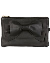 RED Valentino - Bow Soft Leather Wallet - Lyst